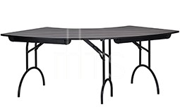415 Crescent Shaped Banquet Table
