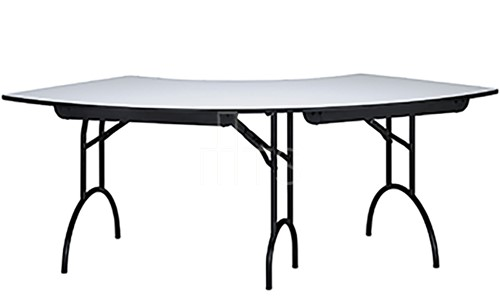 465 Crescent Shaped Banquet Table