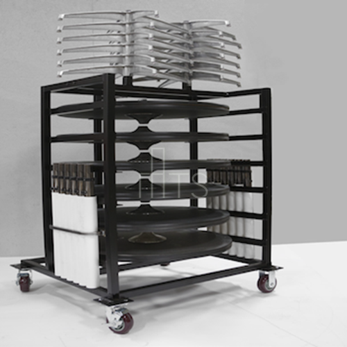 Tri-Height Table Storage Cart